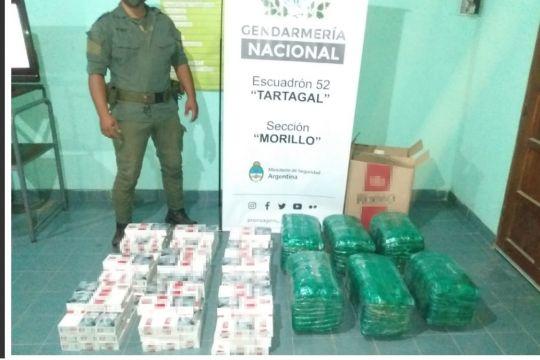 950 paquetes de cigarrillos y 60 kilos de hojas de coca de contrabando