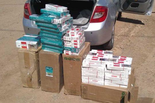6 mil paquetes de cigarrillos en un control vehicular