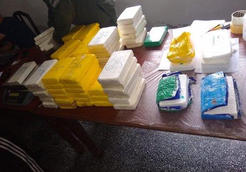124 kilos de cocaína en 4 días (Dpto Orán)